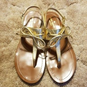 Kate Spade Gold Leather Sandals